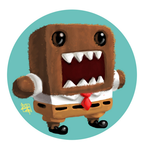 Domo Square Pants - domo-kun Fan Art