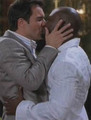 Eric McCormack and Taye Diggs - gay-celebrity-kisses photo