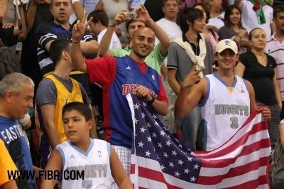 Basketball wallpaper entitled Fans (USA)