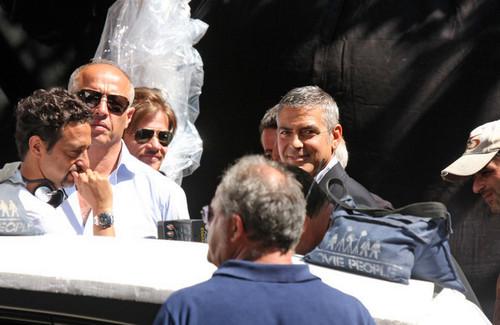 George Clooney on Nespresso Ad Set