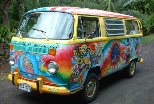 Hippie Vans wallpaper with a van entitled Hippie Van