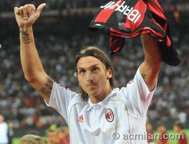 Zlatan Ibrahimovic fond d'écran called IBRA AC MILAN