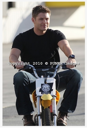 Jensen and his bike