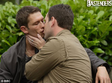 John Partridge - gay-celebrity-kisses Photo