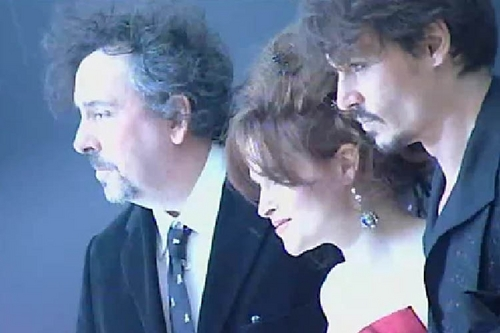 Johnny Depp,Tim burton and Helena Bonham Carter