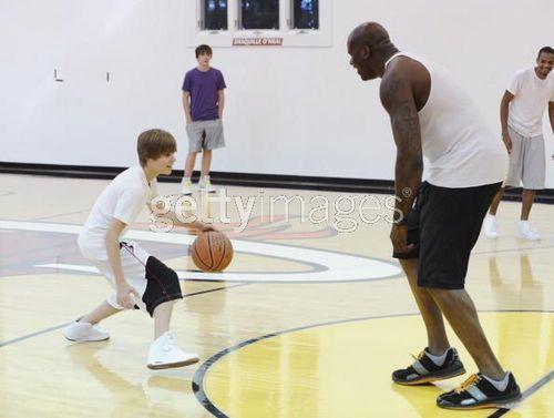 Justin with Shaq