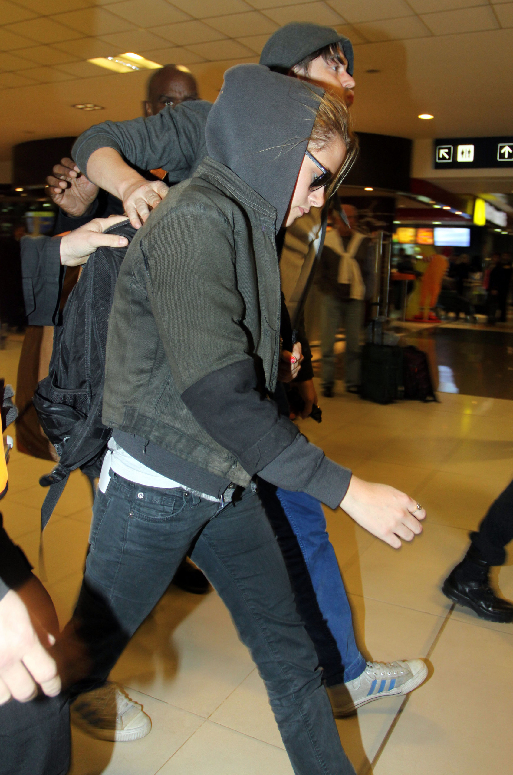 Kristen at the airport