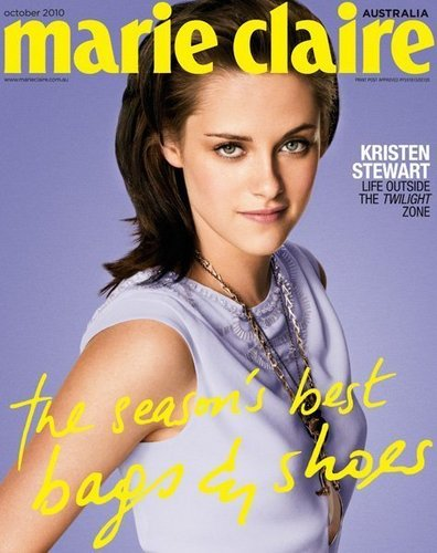 Kristen on the cover of Marie Claire Australia - October 2010
