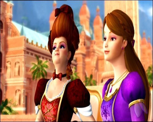 Barbie as the island princess wallpaper entitled Luciana and her mother