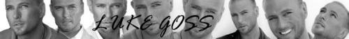 Luke Goss-Black& White Banner