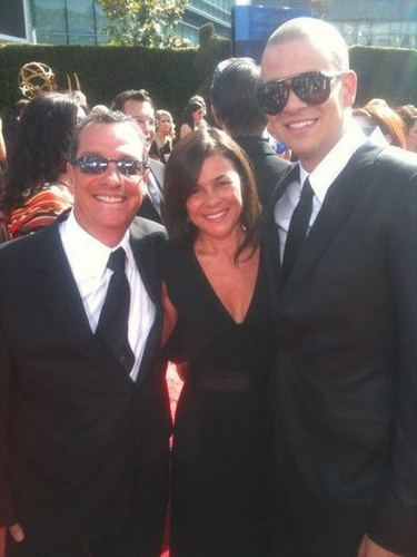 Mark Salling with Lea's Parents @ the Emmys!