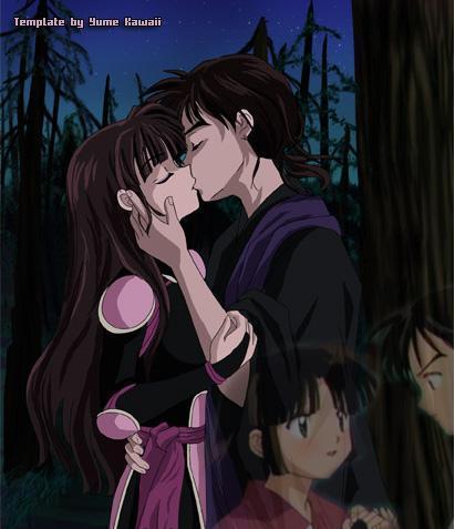 Miroku and Sango Поцелуи