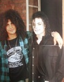 Mj & Slash - michael-jackson photo