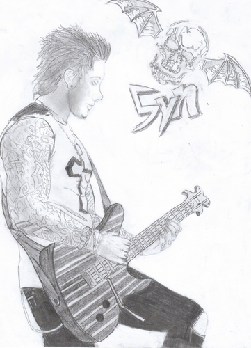 My Drawing of Synyster Gates