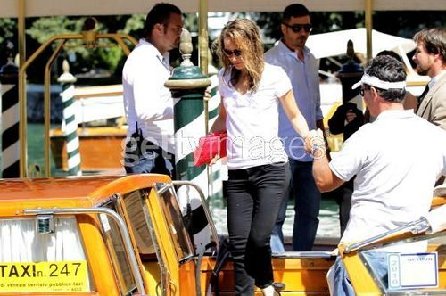 Natalie takes water taxi while attending 67th Venice Film Festival