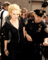 Nicole arriving at the David Letterman onyesha