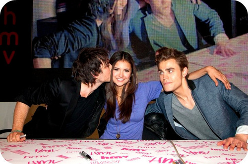 Nina Dobrev,Ian Somerhalder and Paul Wesley
