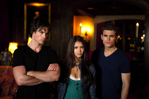 Nina Dobrev,Paul Wesley and Ian Somerhalder - elena-gilbert Photo