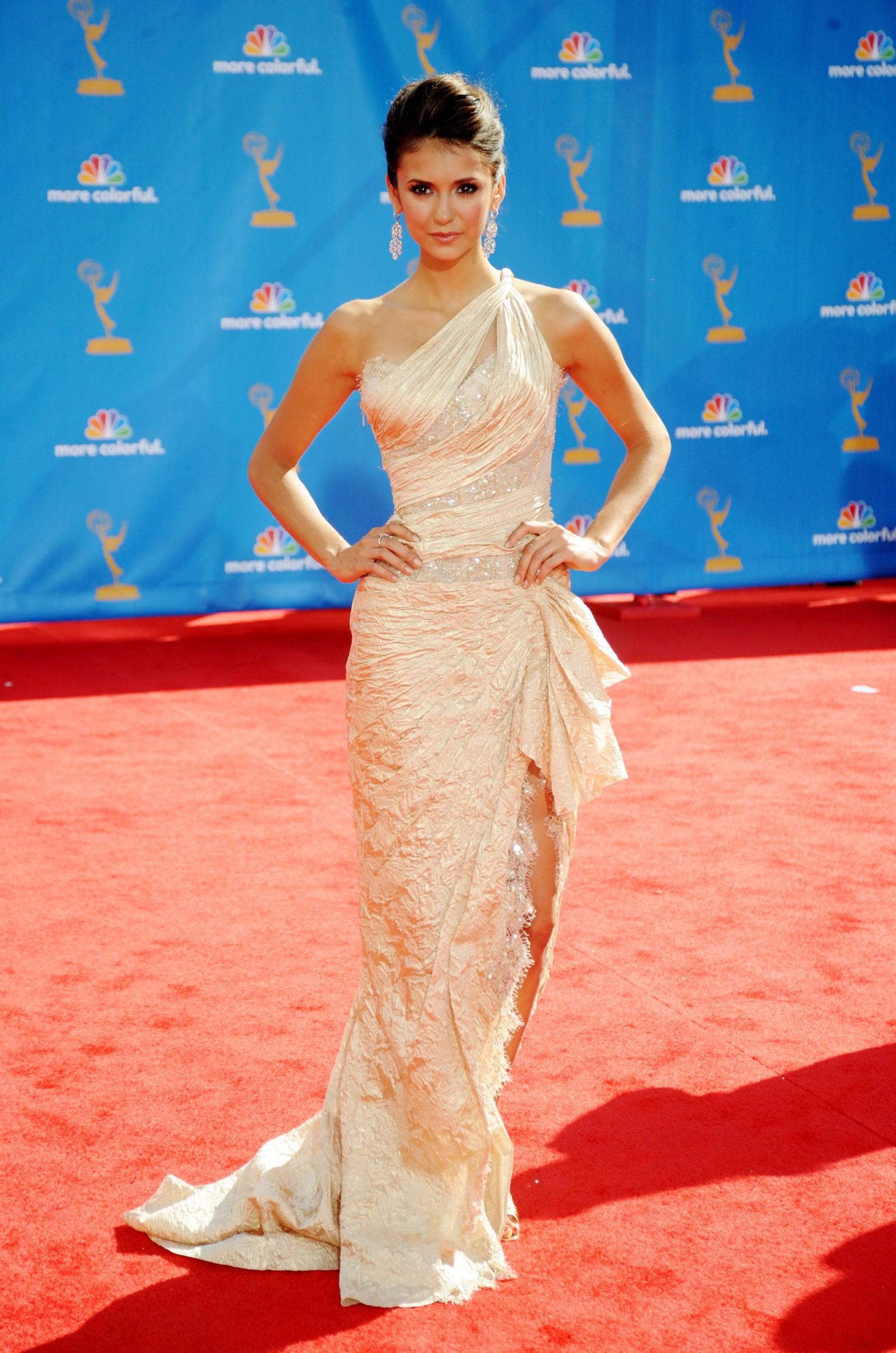 Nina Dobrev Emmys Dress Designer