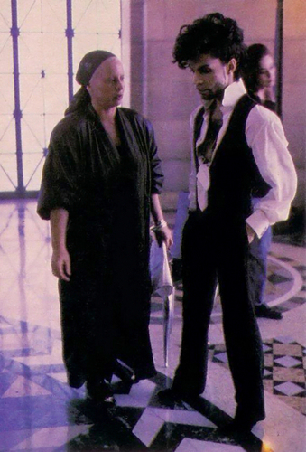 Prince on set of Diamonds and Pearls