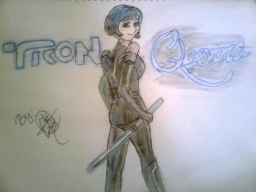 Quorra-drawing-animegirl