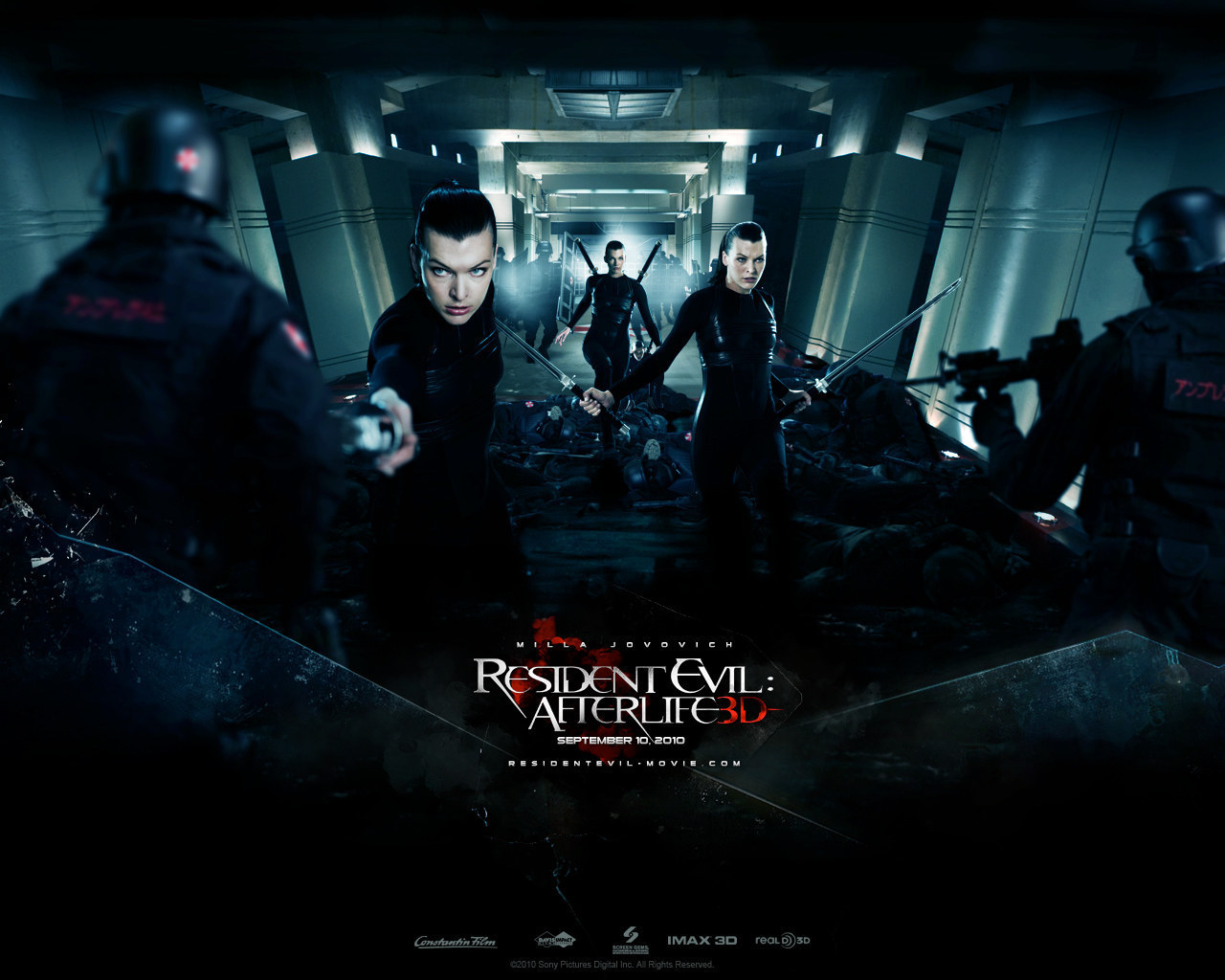 resident evilafterlife 2010 upcoming movies wallpaper