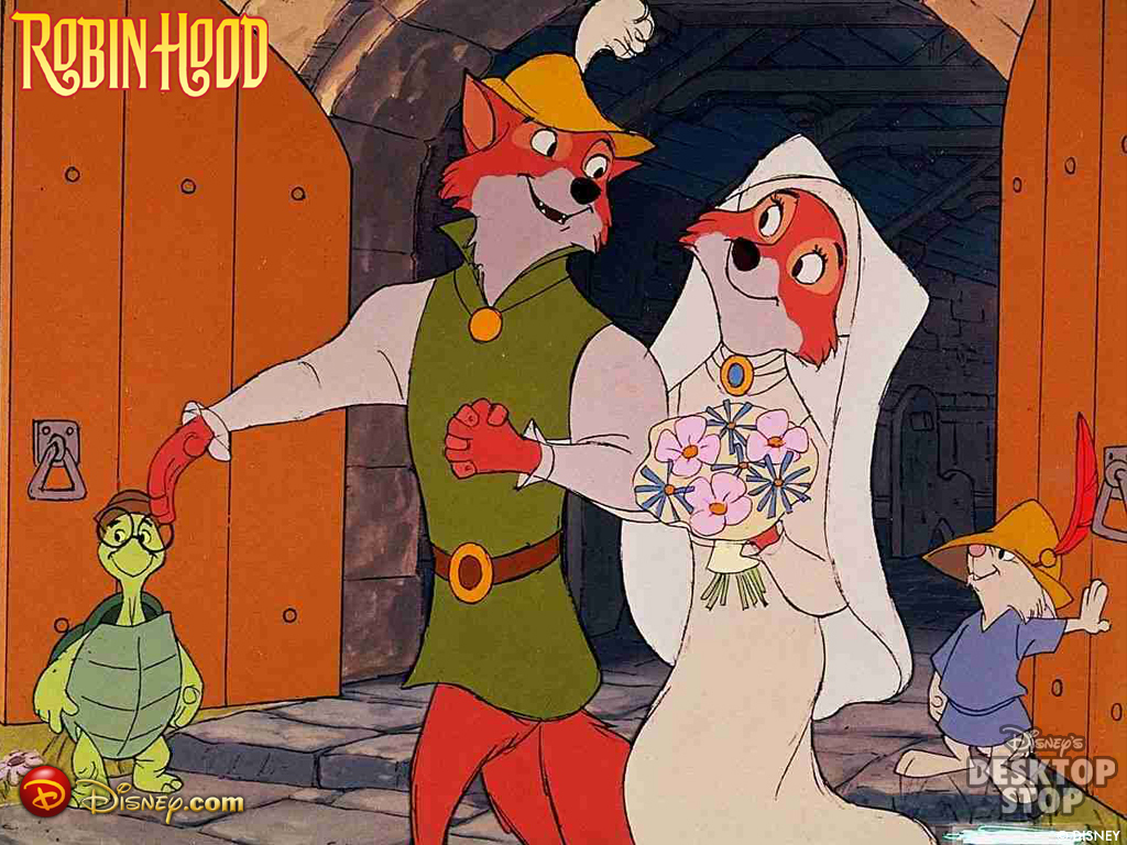 Robin hood walt disney 39 s robin hood wallpaper 15132295 - Hood cartoon wallpaper ...