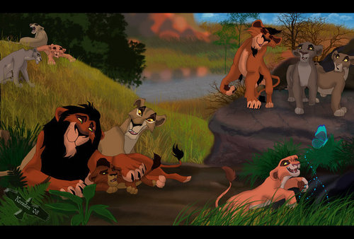 Scar`s family - the-lion-king Fan Art