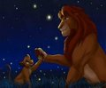 Simba and Mufasa - the-lion-king fan art
