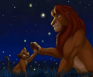 Simba and Mufasa