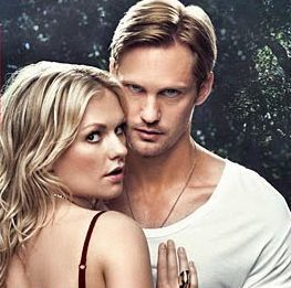 True Blood karatasi la kupamba ukuta with a portrait called Sookie and Eric