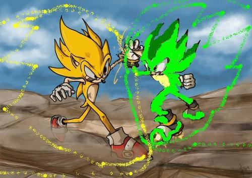 Super Sonic vs Rocket the Hedgehog