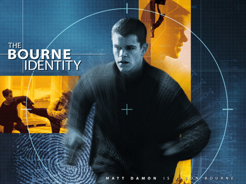 Action Films wallpaper containing a sign and a concert entitled The Bourne Identity