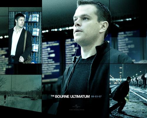 Action Films fondo de pantalla containing a televisión receiver and a sign called The Bourne Ultimatum