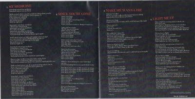 The Pretty Reckless > 'Light Me Up' (Booklet Scans)