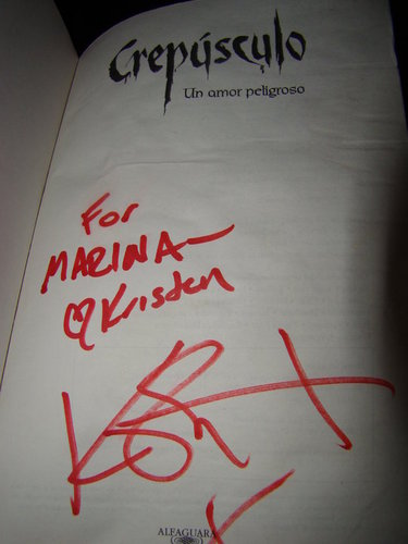 Twilight vitabu autographed kwa Kristen @ Bariloche, Arg.