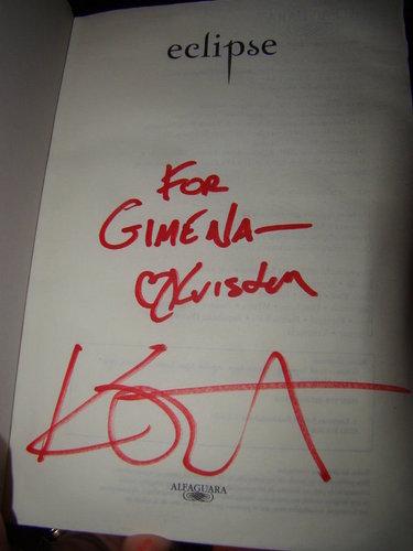 Twilight livres signed par Kristen @Bariloche, Arg.