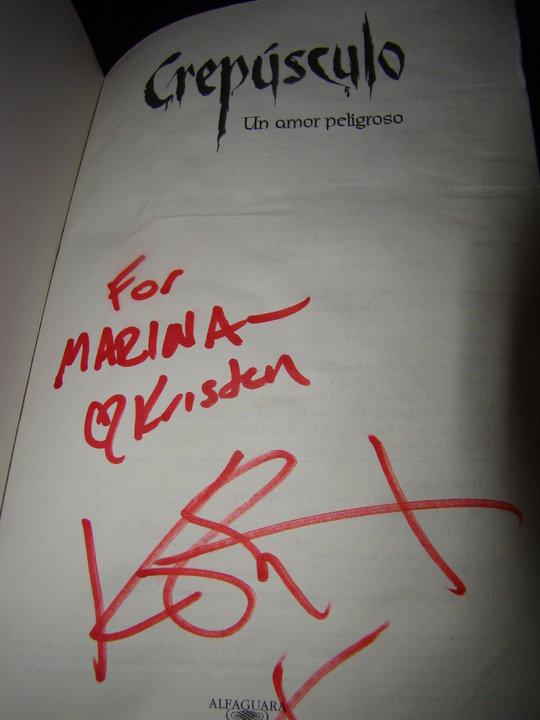 Twilight Bücher signed Von Kristen @Bariloche, Arg.