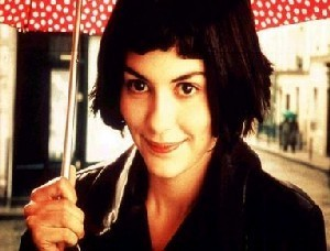 Amelie wallpaper with a parasol titled amelie