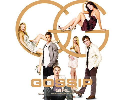 The CW kertas dinding entitled gossip girl