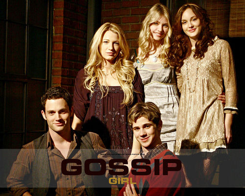 The CW kertas dinding probably containing a well dressed person and a portrait called gossip girl