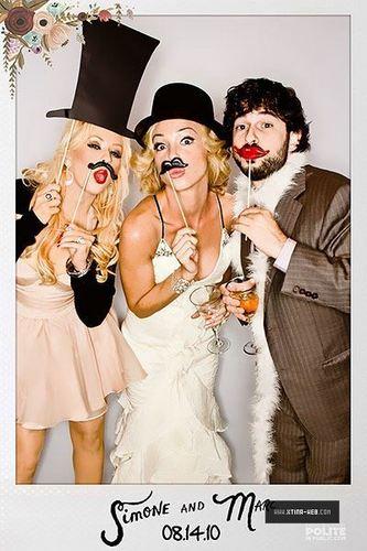hristina Aguilera with Jordan Bratman & Nicole Richie for Simone & Marc Wedding