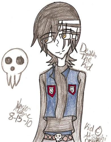 my drawing of death the Kid
