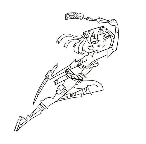 ninja Gwen line art base