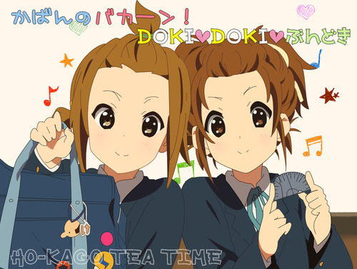 K-ON! wallpaper entitled ritsu&yui