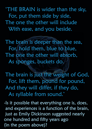 Psychology Hintergrund called the brain - poem