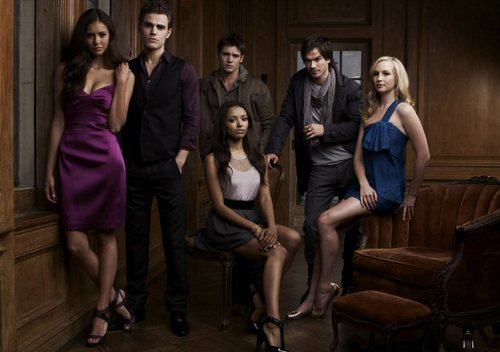 The CW kertas dinding possibly with a well dressed person, a drawing room, and a living room entitled vampire diaries