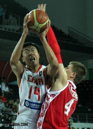 Basketball wallpaper containing a basketball and a basketball player entitled 14. Zhizhi WANG (China)