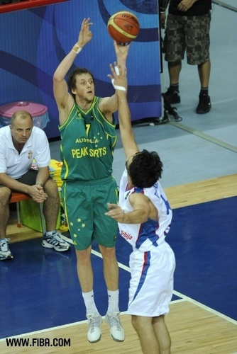 Basketball wallpaper with a basketball, a basketball player, and a dribbler called 7. Joe INGLES (Australia)