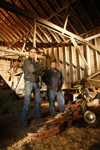 The History Channel wallpaper with a lumbermill and a thatch titled American Pickers
